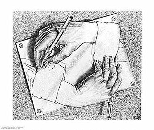 M.C. Escher (Drawing Hands) Art Poster Print - 26x22 Art Poster Print by M. C. Escher, 26x22 Art Poster Print by M. C. Escher, (Escher Drawing)