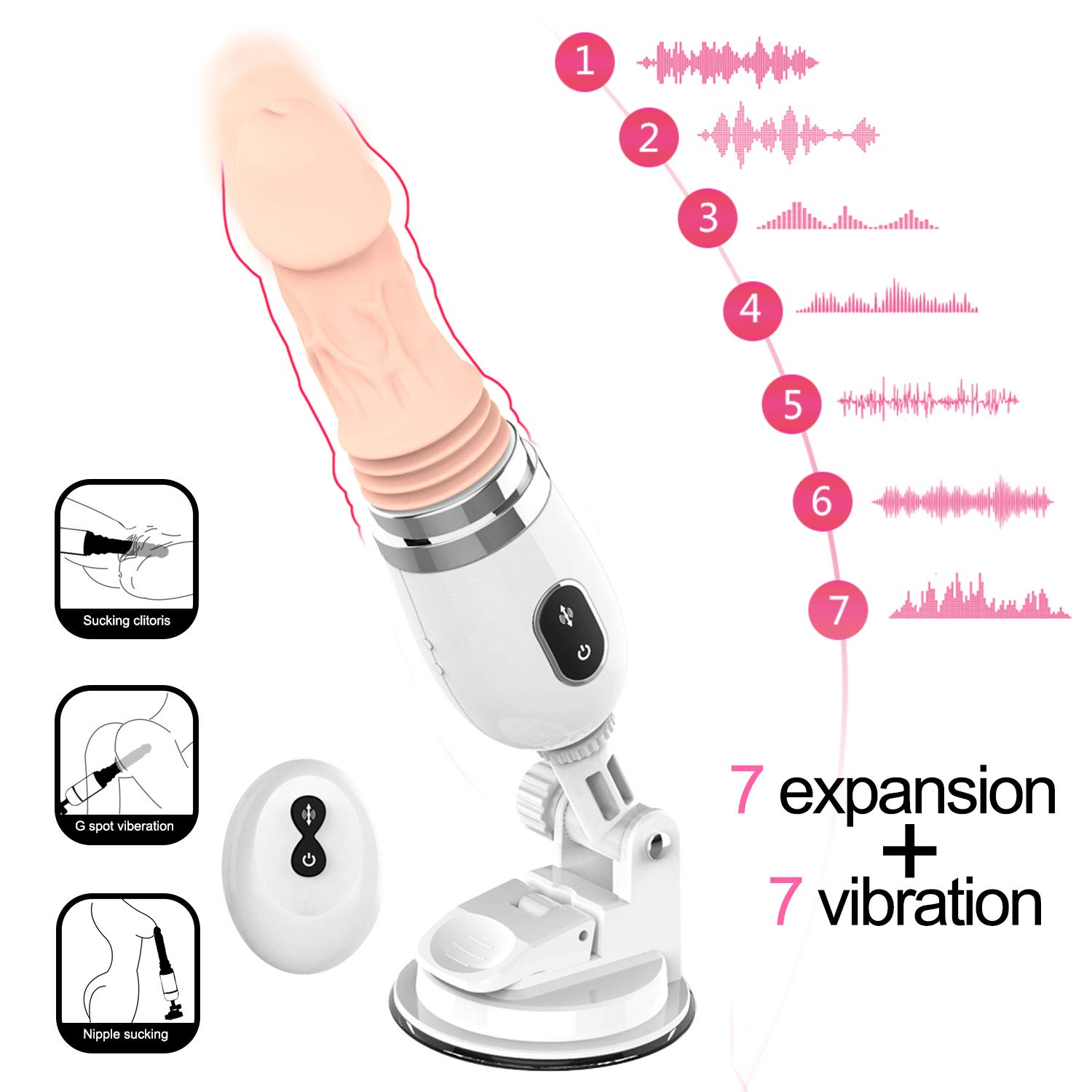 Modes and Thrust Wireless Control Massage Vibration Multiple Levels Heating Remote by Ouwei foreign