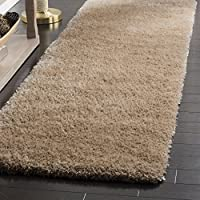 Safavieh Toronto Shag Collection SGTW711H Beige Runner (23 x 8)