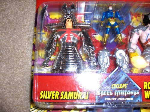 X Men Special Metallic Edition Silver Samurai and Robot Wolverine with Cyclops Steel Mutants