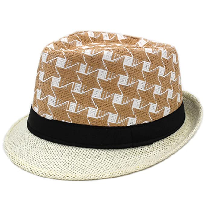 Middle-Aged Men s Spring and Summer hat Jazz Cap Leisure Old Straw ... 29538817181