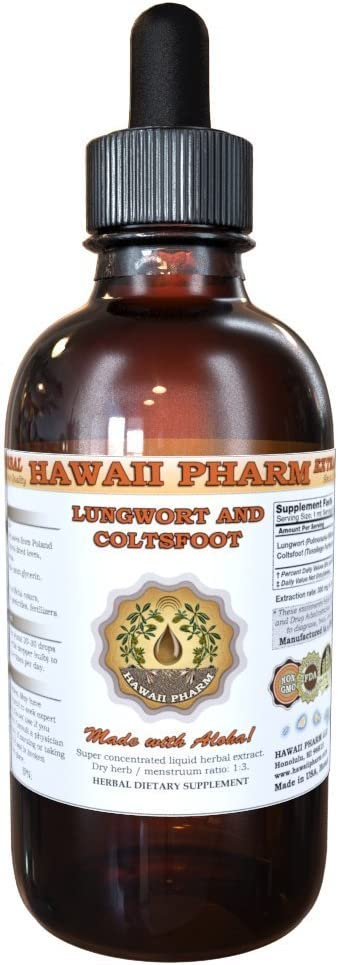 Lungwort and Coltsfoot Liquid Extract, Organic Lungwort Pulmonaria officinalis and Organic Coltsfoot Tussilago Farfara Tincture Supplement 4 oz