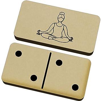 Azeeda Postura de Yoga Domino Juego y Caja (DM00008785 ...
