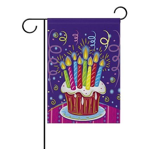 YATELI Pastel de Doble Cara con Velas Feliz cumpleaños ...