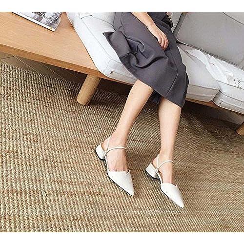 bb87334fcf9 Durable Modelando Zapatos de Mujer Versión Coreana del Verano Nuevo Cuero  de Vaca Planas Gruesas con