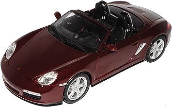 Porsche Boxster S 987 Cabrio Offen Schwarz 2004-2012 1//24 Welly Modell Auto mit