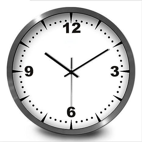 Relojes de Pared Reloj Madera Europea Moderno Reloj Tranquilo Moda Simple Sala De Estar Cocina Restaurante