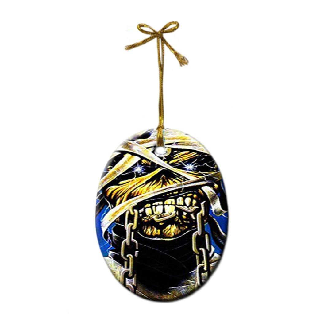 Amazon.com: Iron Maiden Custom Christmas Gift Oval Porcelain ...