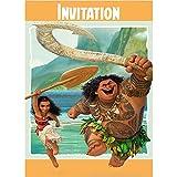 Unique 59824 Disney Moana Party Invitations, 8 Count