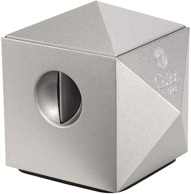 Colibri Quasar Two-In-One Tabletop Metallic Silver Cigar Cutter