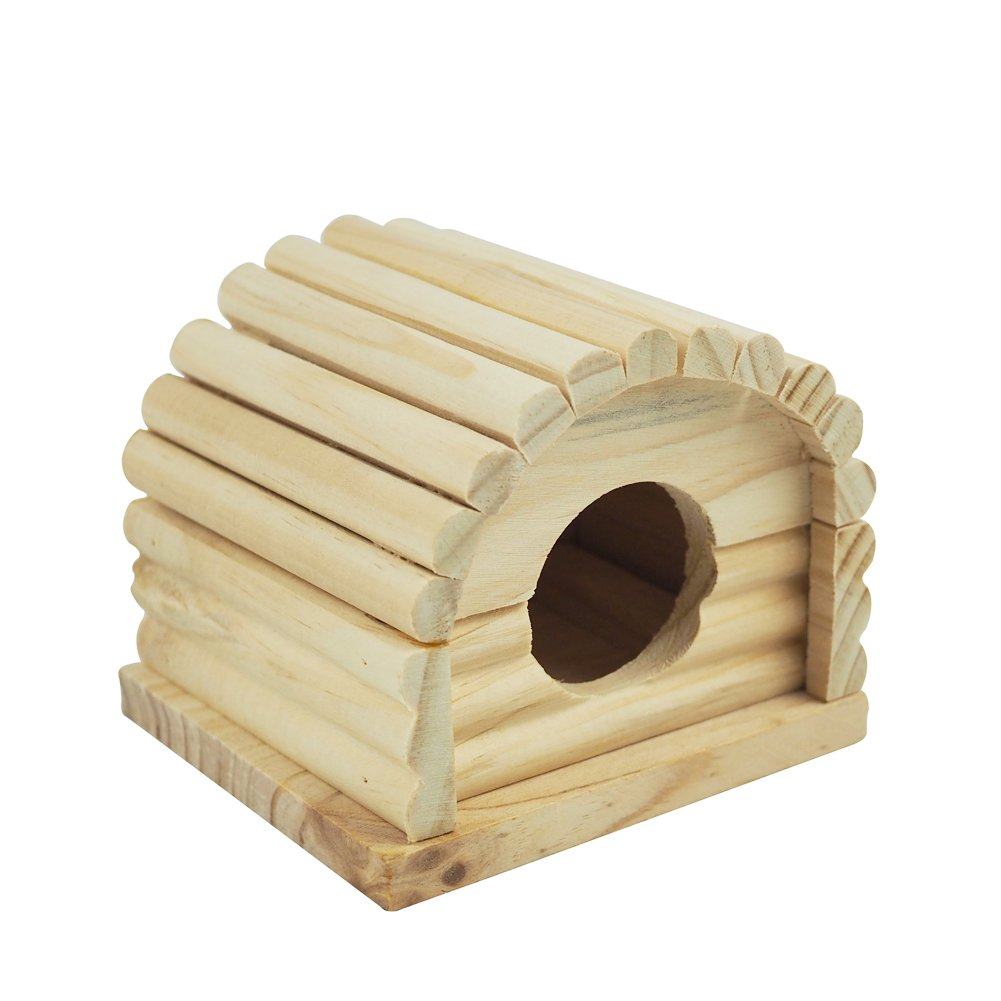 OMEM Hamster Swing Toys, Small Animal Hideout, Pet Mini Hut,Hamster Cabin,Hamster Cages,Pet Wooden Toys,Pet Hamster Toys by OMEM (Image #5)