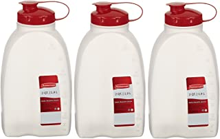 product image for Rubbermaid 712395881385 Servin Saver White Bottle, Plastic, 2 Qt./1.9 Lt (Pack of 3), 3 Pack, Clear, 3 Count