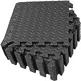 CLISPEED 12pcs Foam Floor Mats Interlocking Tiles EVA Padding Puzzle Exercise Mat Workout Flooring Home Gym Equipment…
