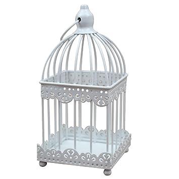 Leisial Bougeoir en Fer Cage à Oiseaux en Fer Artisanat en Métal ...