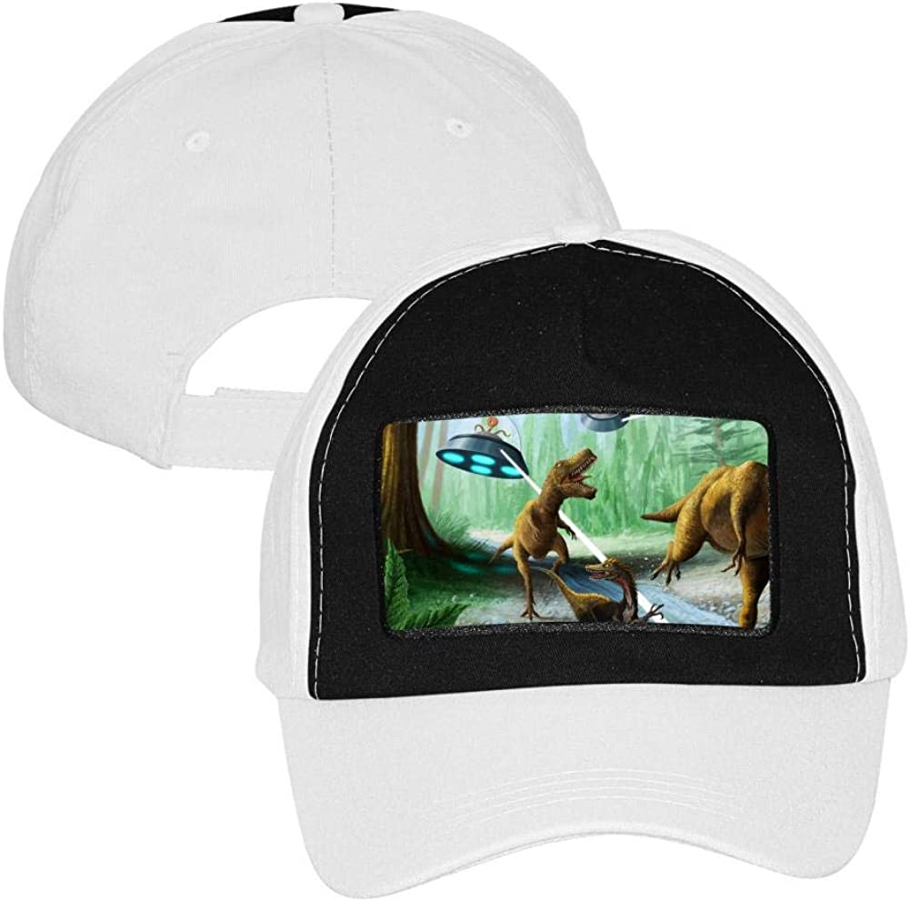 Dinosaur T-rex USA Flag Unisex Baseball Cap Two-Tone Stretch Snapback Hats Adjustable Trucker Caps Dad-Hat
