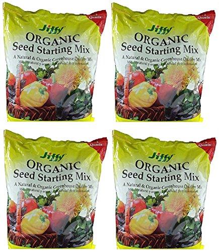 Jiffy G312 12 Quart Natural & Organic Seed Starter Potting Mix - Quantity 4