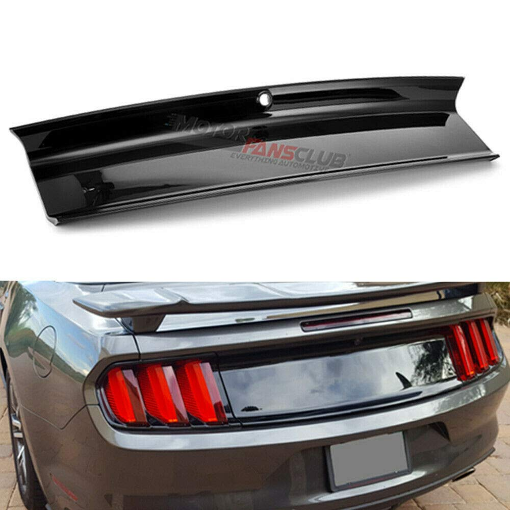 Carbon Fiber MotorFansClub Rear Trunk Decklid Panel Cover Trim fit for compatible with Ford Mustang 2015-2019 Trunk Boot Cover