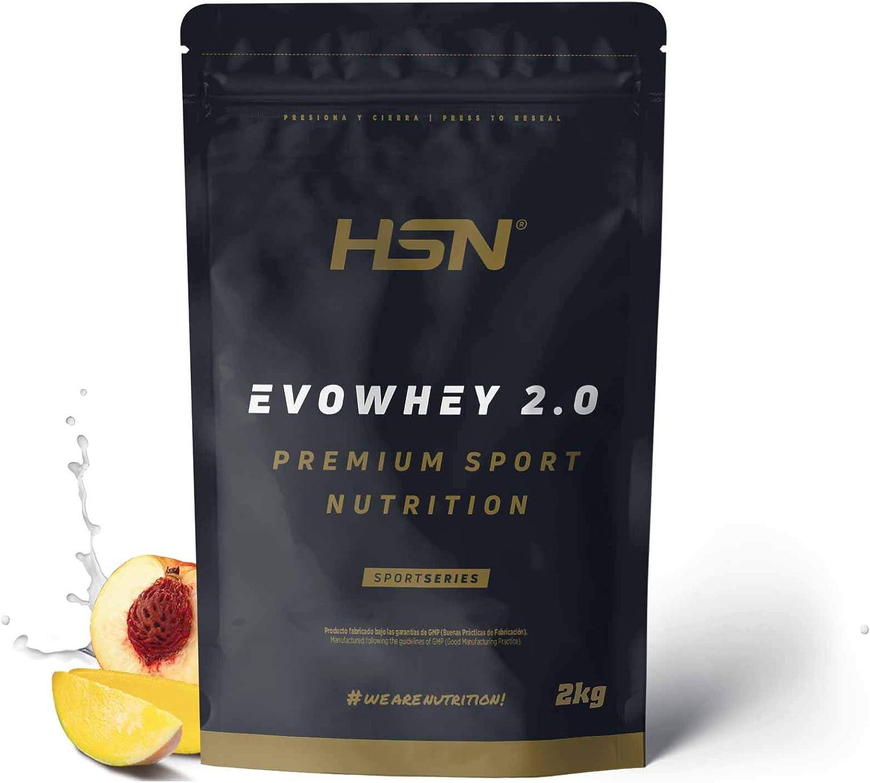 Concentrado de Proteína de Suero Evowhey Protein 2.0 de HSN   Whey Protein Concentrate  Batido de Proteínas en Polvo   Vegetariano, Sin Gluten, Sin ...