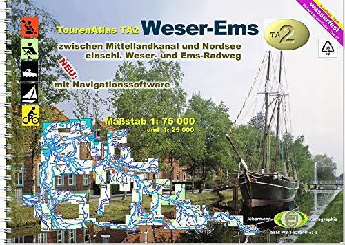 TourenAtlas Wasserwandern / TA2 Weser-Ems: zwischen Mittellandkanal und Nordsee Taschenbuch – 22. Oktober 2018 Erhard Jübermann 3929540630 Weser und Nebenflüsse Bundesrepublik Deutschland