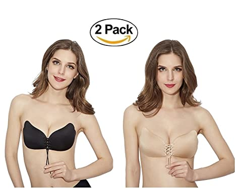 6e7291403e RB Beauty Invisible Bra with Drawstring self-adhesive Breathable All size  available (2 Pack