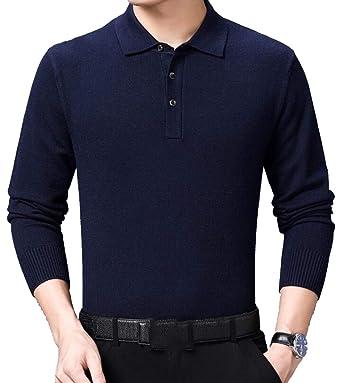 ShuangRun suéter Polo con Cuello Alto y 3 Botones para Hombre 1 M ...