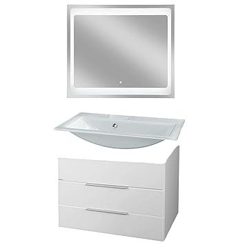 Beliebt Fackelmann Badmöbel Set Kara 3-tlg. 80 cm weiß mit Waschtisch RU85