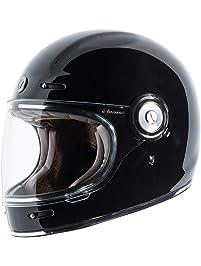 Torc T10523 Retro Full Face Helmet (Gloss Black, M)