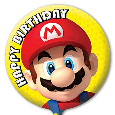 Party2u Super Mario Happy Birthday Foil Balloon (Uninflated): Toys & Games