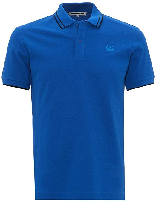 mcq by alexander mcqueen mens swallow chest logo polo shirt amazon co uk clothing amazon co uk