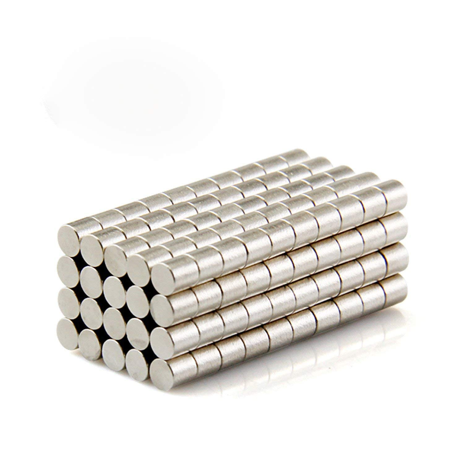 50pcs 3x10mm Round Cylinder Magnets Deep DIY Personalized Multi-Use for Fridge Door Whiteboard Magnetic Map Magnetic Screen Door Bulletin Boards Refrigerators (3x10mm)