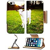 MSD Premium Apple iPhone 6 iPhone 6S Flip Pu Leather Wallet Case Goatling is grazing on the meadow IMAGE 12031004