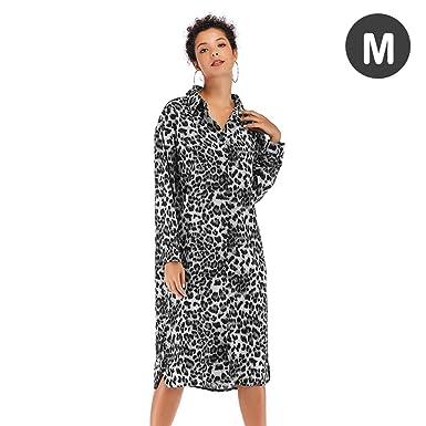 Falda para Mujer Vestidos a Media Pierna con Estampado de Leopardo ...