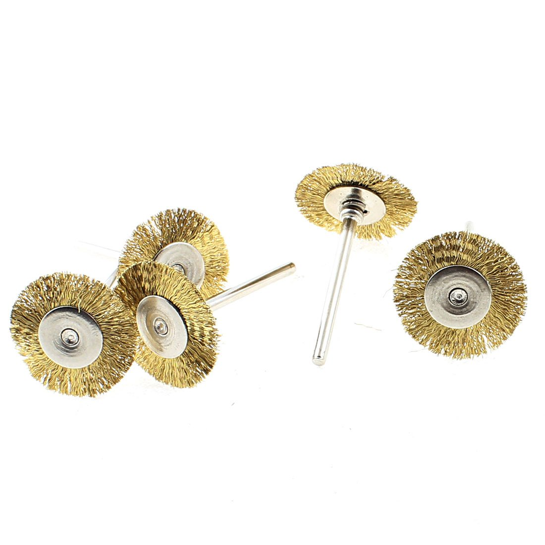 uxcell 25mm Copper Pad Metal Straight Shank Polishing Buffing Wheel Tool 5pcs
