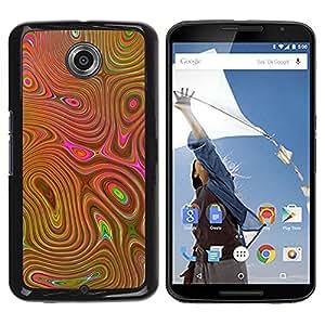 Be Good Phone Accessory // Dura Cáscara cubierta Protectora Caso Carcasa Funda de Protección para Motorola NEXUS 6 / X / Moto X Pro // Lcd Mushrooms Psychedelic Cd Gold