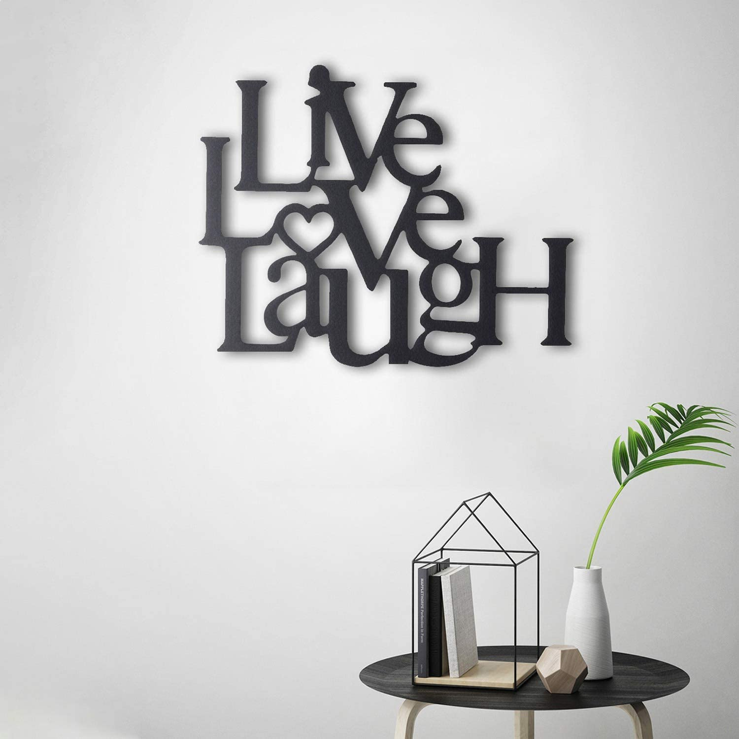 Tubibu Live Laugh Love metal wall art Metal Wall Word Sculpture, Wall Decor Wall Art (15.75