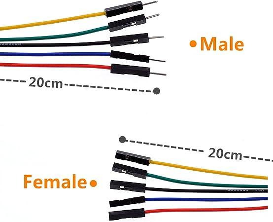 2 in 1 10pin Alligator Clip jump Wire 20cm Crocodile Clip Test Leads cablY/_ju