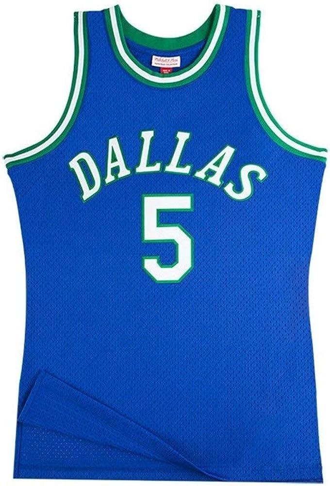 Breathable Verschlei/ßfest Gesticktes Sweatshirt T-Shirt XS-XXL Zyf Maillot De Basket Herren-Basketball-Jersey # 5 Jason Frederick Kidd