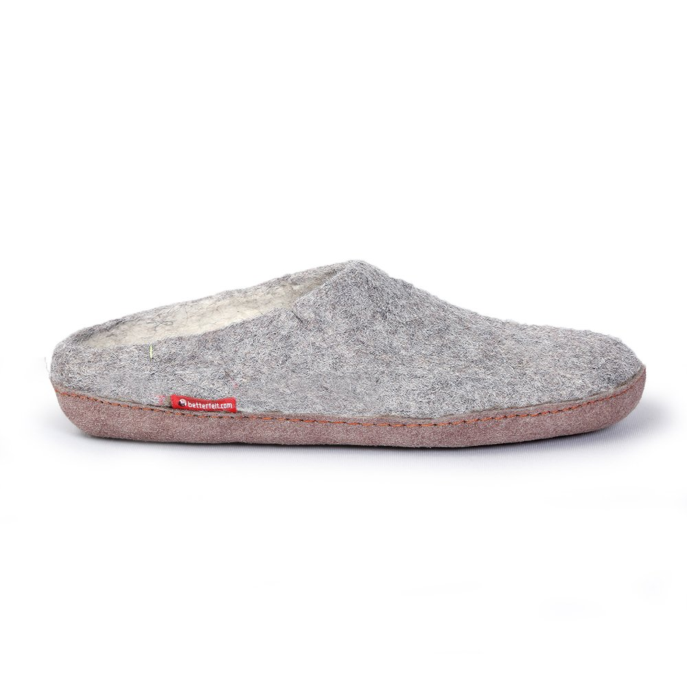 Glerups AR-01 Unisex Wool Shoe Grey Rubber Outsole 40 EU M by Glerups