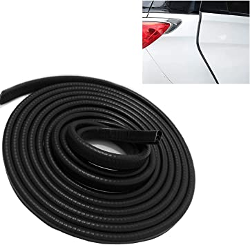 Car Edge Trim Rubber Seal Protector with U Shape Car Protection Door Edge Guard Fit for Most Car Car Door Edge Protector 16Ft 5M Black