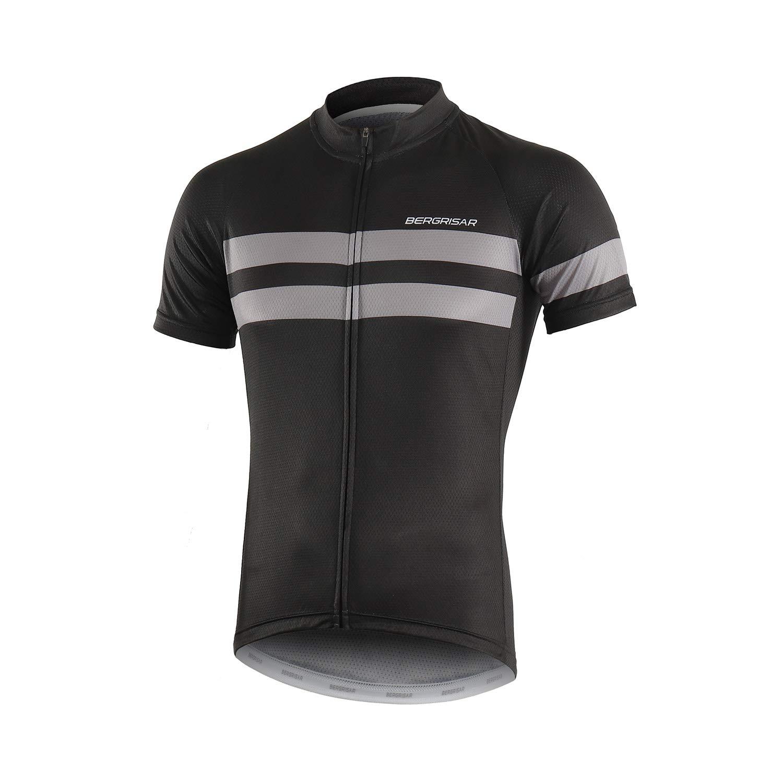 BERGRISAR Mens Cycling Jerseys Short Sleeves Bike Shirt