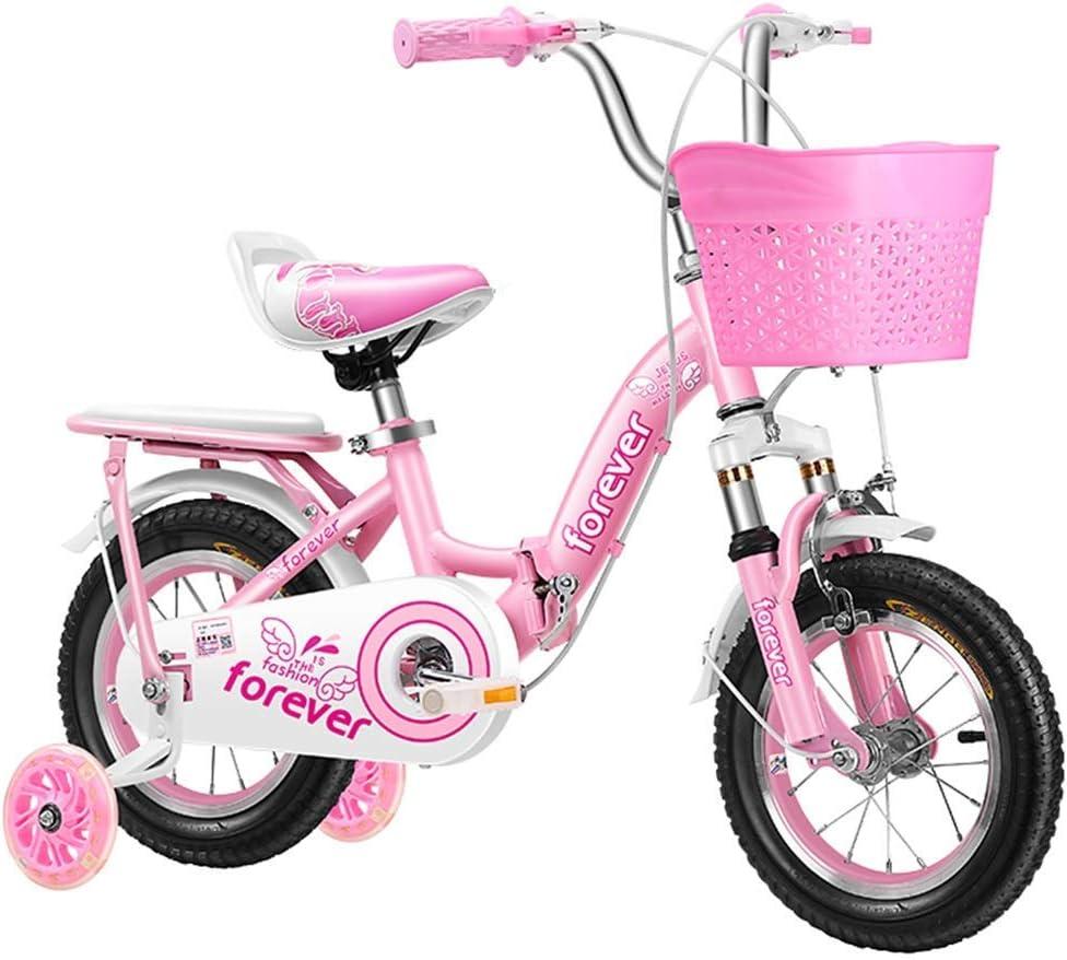 Deportes al aire libre Juguetes Bicicletas bicicletas for niños de 2-10 años de la muchacha Bicicletas Bicicletas infantiles Bicicletas rosa de acero al carbono 12 14 16 18 20 pulgadas bicicleta de eq