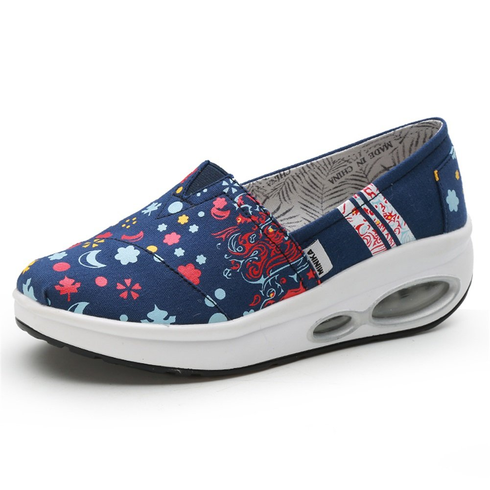 0b8cb6e39df68 SHINIK Zapatos de mujer Lienzo Confort de verano Suela ligera ...