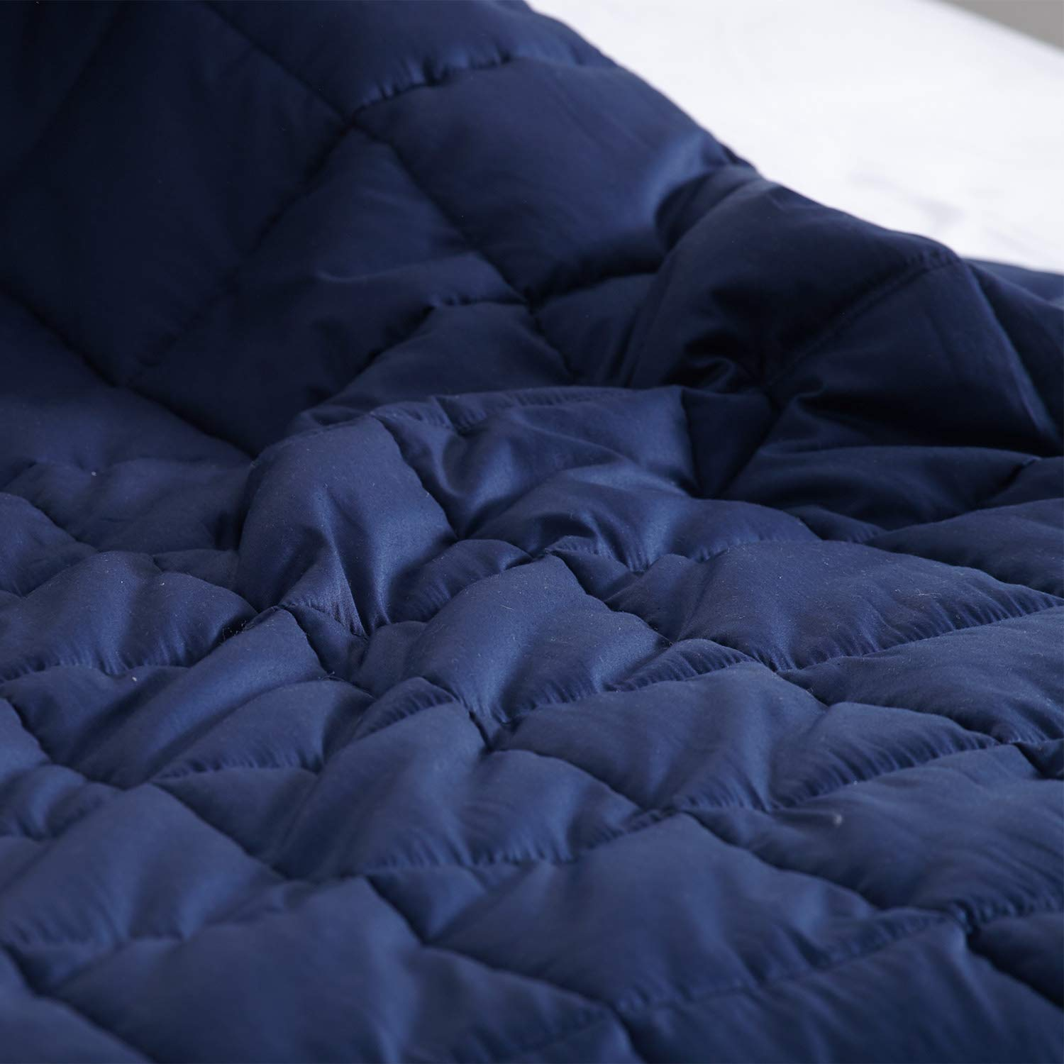 Kawaii/_Kids Cooling Weighted Blanket Adult Summer 15lbs 48x78, Navy Blue,Twin Size ,Heavy Blanket 2.0 for Better Deeper Sleep
