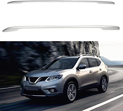 eccpp roof rack side rails luggage cargo carrier roof side rails fit for nissan rogue 2014 2016 2014 2015 2016 silver aluminum cross rails