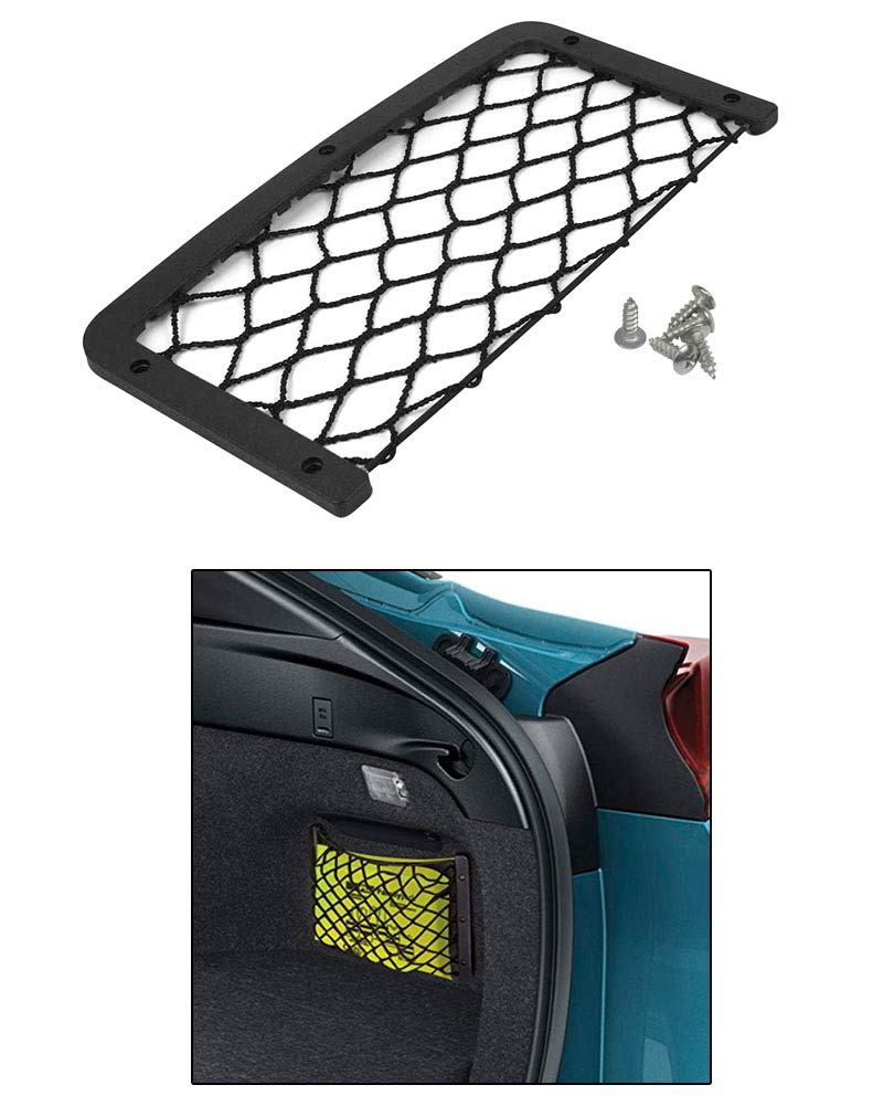 2 Pack, ABS Plastic Frame with Stretchable Mesh Net, Screws Included for Secure Fit in Auto, RV, Home, Marine JAVOedge