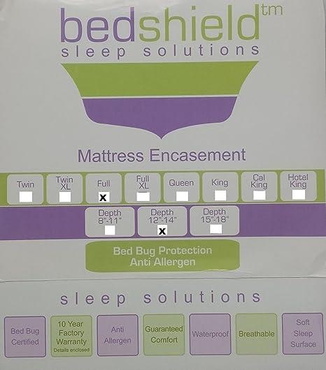 bedshield – Cama Bug polvo y ácaros Anti- alergénico impermeable tamaño completo funda de colchón