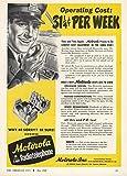 1948 Ad Police Cut Costs Motorola FM 2 Way Radio Radiotelephone - Original Vintage Advertisement