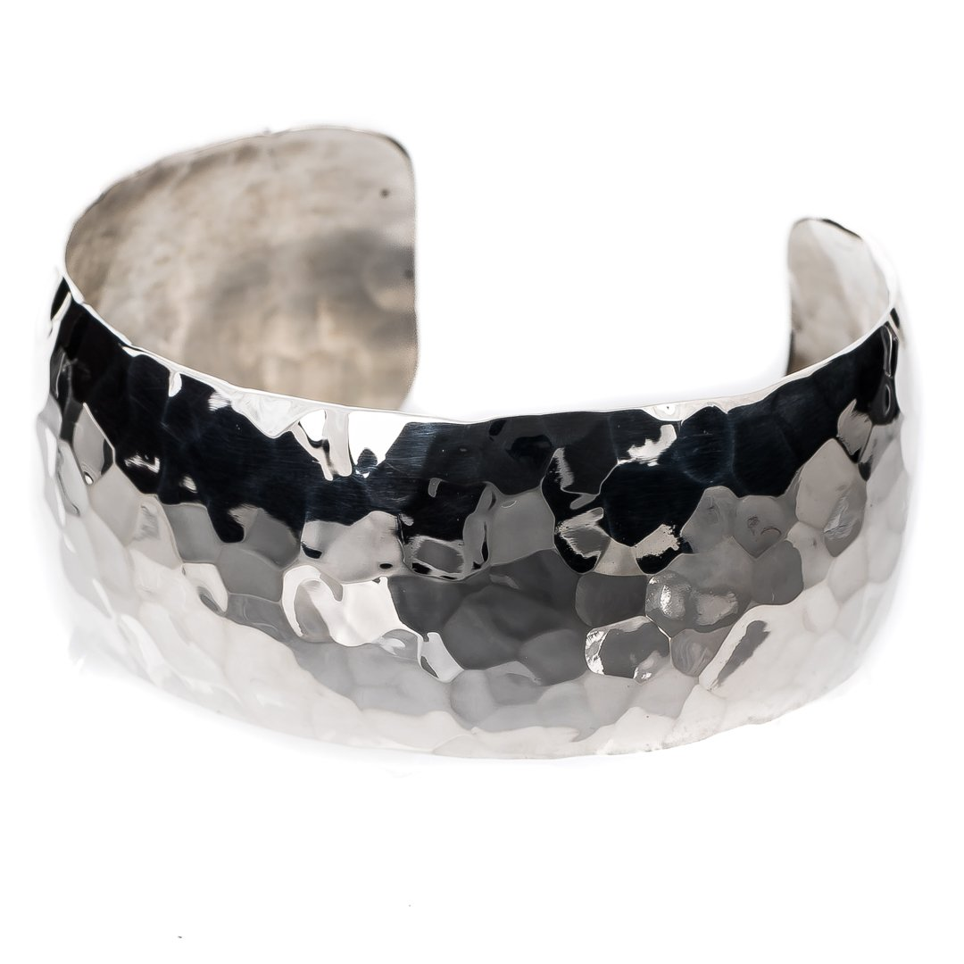 TSKIES Navajo Sterling Silver .925 Hand Hammered Cuff Bracelet Native American Jewelry (Large)