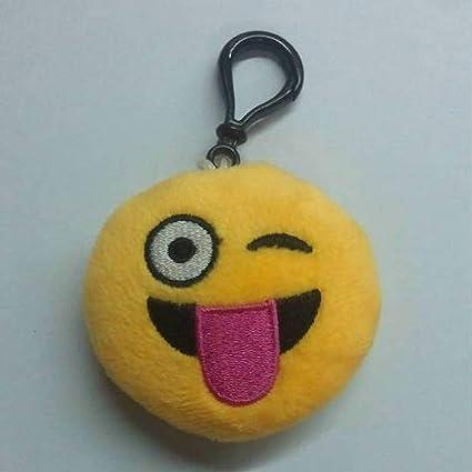 JEWH Funny Emoji Cartoon face Plush Toys Keychain - Pendant / Mini Dolls Round Smile Keyring