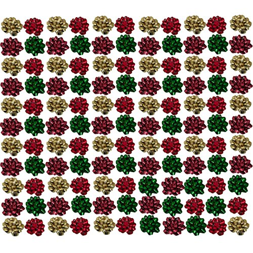 Berwick Offray (120 Count Small Gift Bows Assorted For Presents Reusable Gift Wrap Birthday Holiday Mini Gift Bows Bulk, Gift Wrap Supplies by Berwick Offray